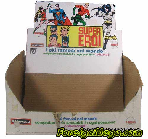 Italian Superhero display box