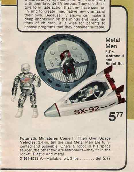 the metal men from zee toys