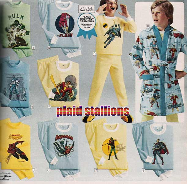 Look at the frigging selection of Superhero Pajamas