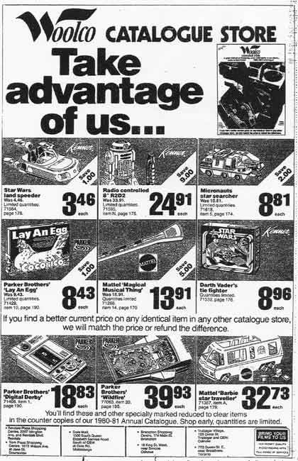 Woolco Toy land circa 1979